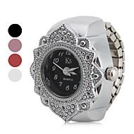 Dames Modieus horloge Japans Kwarts Roestvrij staal Band Bloem Zilver Wit Zwart Rood Roze