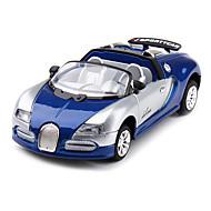 01h43 modèle de voiture de course 666 roadster (bleu)