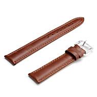 unisex lederen horlogebandje 18mm (bruin)