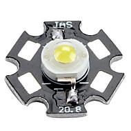 6000-6500K 0.75w 80-90lm 280mah witte LED-lamp met een aluminium plaat (3.0-3.4V)
