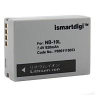 ismartdigi ersättningsbatteri NB-10L för Canon sx40hs, PowerShot G1 X