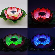 Solar Powered Cambiare colore Floating Lotus Lamp Flower Garden Pool Notte
