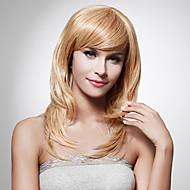 Capless långa hög kvalitet syntetiskt enkla eller blont hår peruk