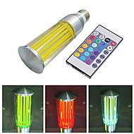 Lâmpada Vela Controle Remoto/Decorativa E26/E27 3 W 200 LM K RGB/Muda de Cor LED de Alta Potência AC 100-240 V