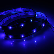 Waterproof 30cm 12-led blauwe LED strip licht (12V)