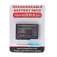 batteria ricaricabile per Nintendo DS Lite + cacciavite (2000mAh)