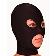 Mask Ninja Zentai Cosplay Costumes Black Solid Mask Lycra Unisex Halloween / Christmas