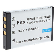 Digital Video Batteri Byt Fuji.NP-60 för FUJIFILM 50i F401 och mer (3.7V, 1150 mAh)