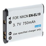 dijital video pil Nikon Coolpix S3100 ve daha fazla (3.7V, 750 mah) için Nikon EN-EL19 değiştirin