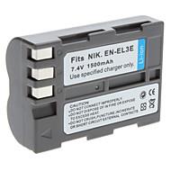 Digital Video Batteri Byt Nikon EN-EL3E för Nikon D50 D70 och mer (7.4V, 1500 mAh)