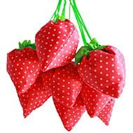 jordbær tekstil shopping design taske (tilfældig farve)