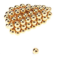 Magnet Toys 50 Pieces 5mm Magnet Toys Executive Toys Puzzle Cube DIY Toys Magnetic Balls Gold Silver Education Toys For Gift