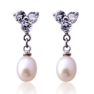 Σκουλαρίκι Κρεμαστά Σκουλαρίκια Κοσμήματα 2pcs Πάρτι / Καθημερινά / Causal Μαργαριτάρι / Κρύσταλλο / Επάργυρο Γυναικεία