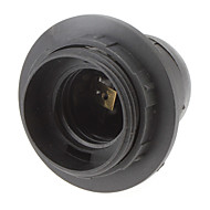 E27 kierre lampunpidike lamppupitimeen (musta)