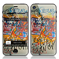 Scrawl Pattern Front and Back Screen Protector Film for iPhone 4/4S
