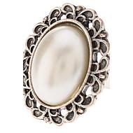 Κρίκοι Πάρτι Κοσμήματα Μαργαριτάρι Κράμα Γυναικεία Εντυπωσιακά Δαχτυλίδια 1pc,5 Λευκό