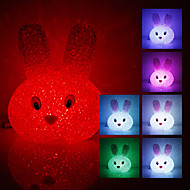 Crystal Rabbit Shaped fargeendringen LED Night Light (USB)