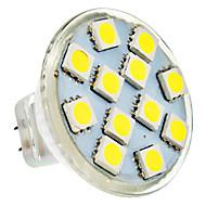 MR11 2W 12x5050SMD 100-150lm 6000-6500K Natural White Light Spot LED Bulb (AC / DC 12 V)