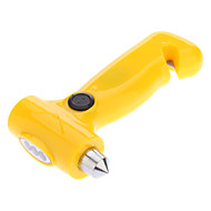 3-LED Torcia dinamo con Lifesaving Hammer (Giallo)