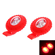 LED Flashlights / Headlamps LED 3 Mode 100 Lumens Tactical CR2032 Camping/Hiking/Caving / Cycling / Hunting - Others , Red Rubber