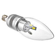 E12 3W 6x5630SMD 200-220LM 5800-6500K Natural White Light LED Candle Bulb (110-240V)