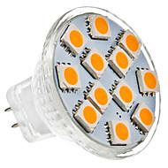 MR11 (GU4) 1w 12x5050smd 70lm 2700K biała ciepła Żarówka LED światła punktowego (12 V)
