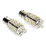 1157 S25 BA15D 1.5W 150-180LM 6000-6500K White 18-LED Car Signal/Turning Lamp (2pcs)