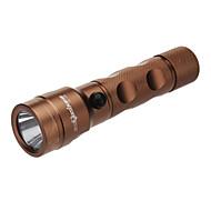 SkyEye CG-730 recargable 3-Mode del Cree XP-E LED Flashlight R5 (240LM, 1x18650, cobre)