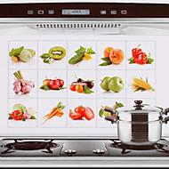 75x45cm fruta& legumes padrão hot-prova à prova de água adesivo de parede à prova de óleo de cozinha