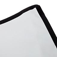 NEWYI K-B23 Folding Stoff Reflektor für Box-Blitzgerät (Schwarz + Silber)
