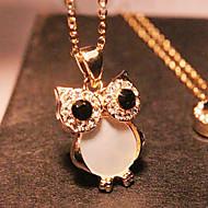 女性 ペンダントネックレス 合金 模造ダイヤモンド シェル ファッション ゴールデン ジュエリー パーティー Halloween 1個