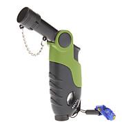 ABS briquet à gaz coupe-vent avec la corde Portable (couleur aléatoire)