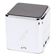 JH-MD06 Micro SD / TF Mini Speaker Música com Micro USB Port/3.5mm Plug (Silver)