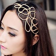 z&x® hul flettet hår med gyllent hårbånd