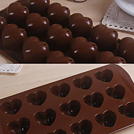 15 Grids Love Heart Pattern Silicone Cake Mould