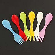 6db / csomag kanál villa kemping gyalogos edények szikra combo utazási gadget evőeszközök