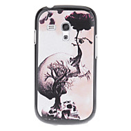 Growing Flower Skull Pattern Hard Back Case Cover for Samsung Galaxy S3 Mini I8190
