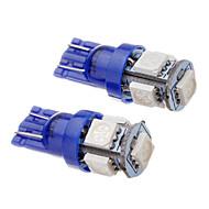 2 Pcs T10 194 168 W5W 1.2W 5x5050SMD 465-470NM Blue Light LED Car Wedge Tail Side Light