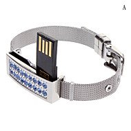Hermosa pulsera de diamantes Flash Drive 16G