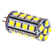 G4 5W 30x5050SMD 270LM Warm/Cool White Light LED Bulb for Car (DC 12V)