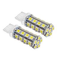T20 6W 30x5060SMD 540lm 5500-6500K Cool White Light Bulb LED para carro (12V, 2pcs)