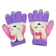 Kanin Ornament Tekstil Screen Touch Glove (3 Fingers Touch)