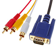 HDMI V1.3 maschio a 3 RCA + VGA maschio HD15 Video Audio Component AV Cable (1.5M)