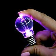luce portachiavi ciondolo a forma di lampadina colorata led