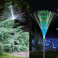 1-LED variopinto Luce solare del LED fibra ottica Luce Fontana Garden Stake