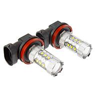 H8 80W 16xCree xb-d 800-850LM 6000K Cool White Light LED Bulb for Car (10-24V,2pcs)