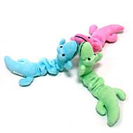 Juguete para Gato Juguete para Perro Juguetes para Mascotas Peluches Dinosaurio Caricaturas Textil Verde Azul Rosa