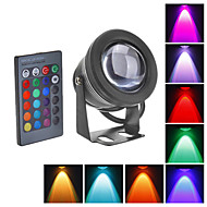 10W LED Underwater Light 1000LM Waterproof Flood Lamp With Convex Glass Lenses (12-18V)