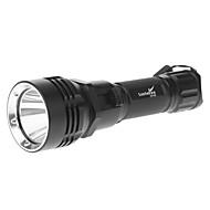LT-114 5-Mode Cree XM-L T6 LED dykking lommelykt (980LM, 1x18650, Black)