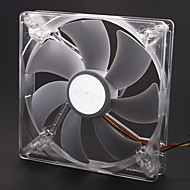 AK-195WH/AK-195BL 13.9cm White/Silver Case Fan with Adjustable Fitting for 14/13.5/13cm